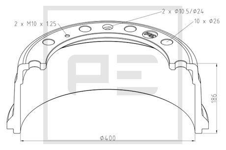 LKW Bremstrommel PETERS ENNEPETAL 336.007-00A kaufen