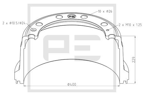 LKW Bremstrommel PETERS ENNEPETAL 336.008-00A kaufen