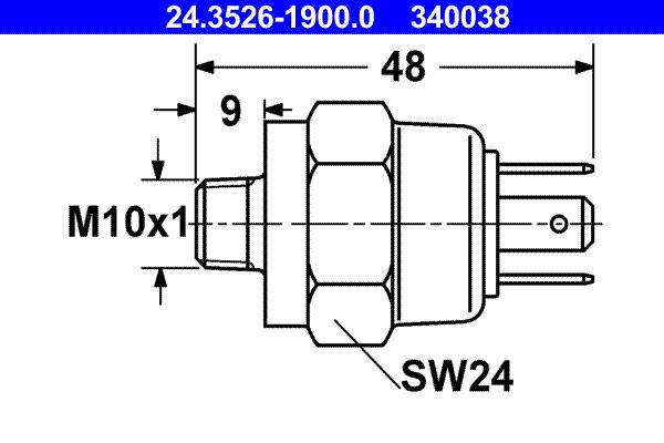 Stop light switch 24.3526-1900.0 ATE — only new parts