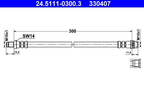 Original DACIA Bremsschlauch 24.5111-0300.3