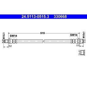 330668 ATE Länge: 515mm, Außengewinde: M10x1mm Bremsschlauch 24.5113-0515.3 günstig kaufen