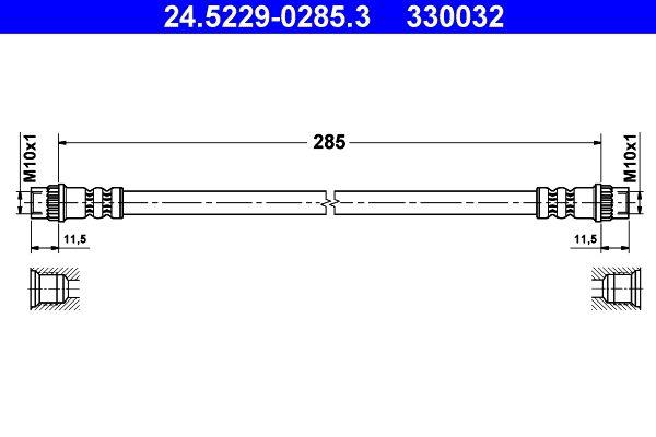 Original DACIA Bremsschlauch 24.5229-0285.3