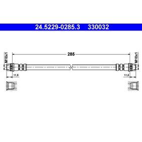 330032 ATE Length: 285mm, Inner Thread 1: M10x1mm Brake Hose 24.5229-0285.3 cheap