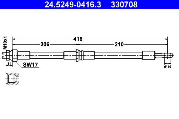ATE Bremsschlauch 24.5249-0416.3