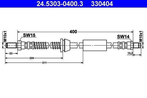 ATE Bremsschlauch 24.5303-0400.3