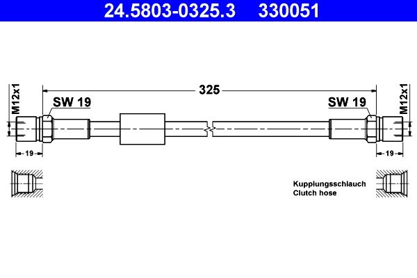 Clutch hose 24.5803-0325.3 ATE — only new parts
