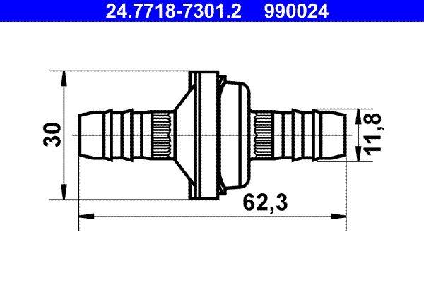 ATE: Original Bremskraftverstärker 24.7718-7301.2 ()