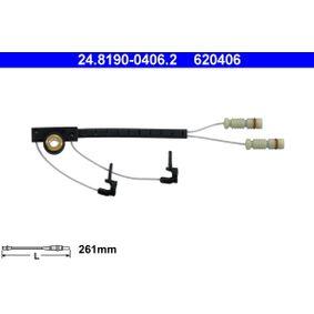 620406 ATE Warning Contact Length: 261mm Warning Contact, brake pad wear 24.8190-0406.2 cheap