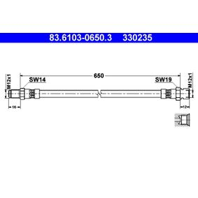 ATE 83.6104-0220.3 Bremsschlauch