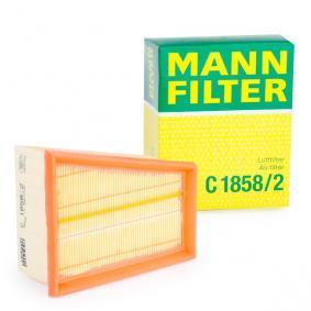 C 1858/2 MANN-FILTER Länge: 176mm, Breite: 142mm, Höhe: 78mm Luftfilter C 1858/2 günstig kaufen