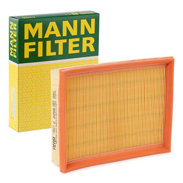 C 2256 MANN-FILTER Filtereinsatz Länge: 211mm, Länge: 211mm, Breite: 166mm, Höhe: 37mm Luftfilter C 2256 günstig kaufen