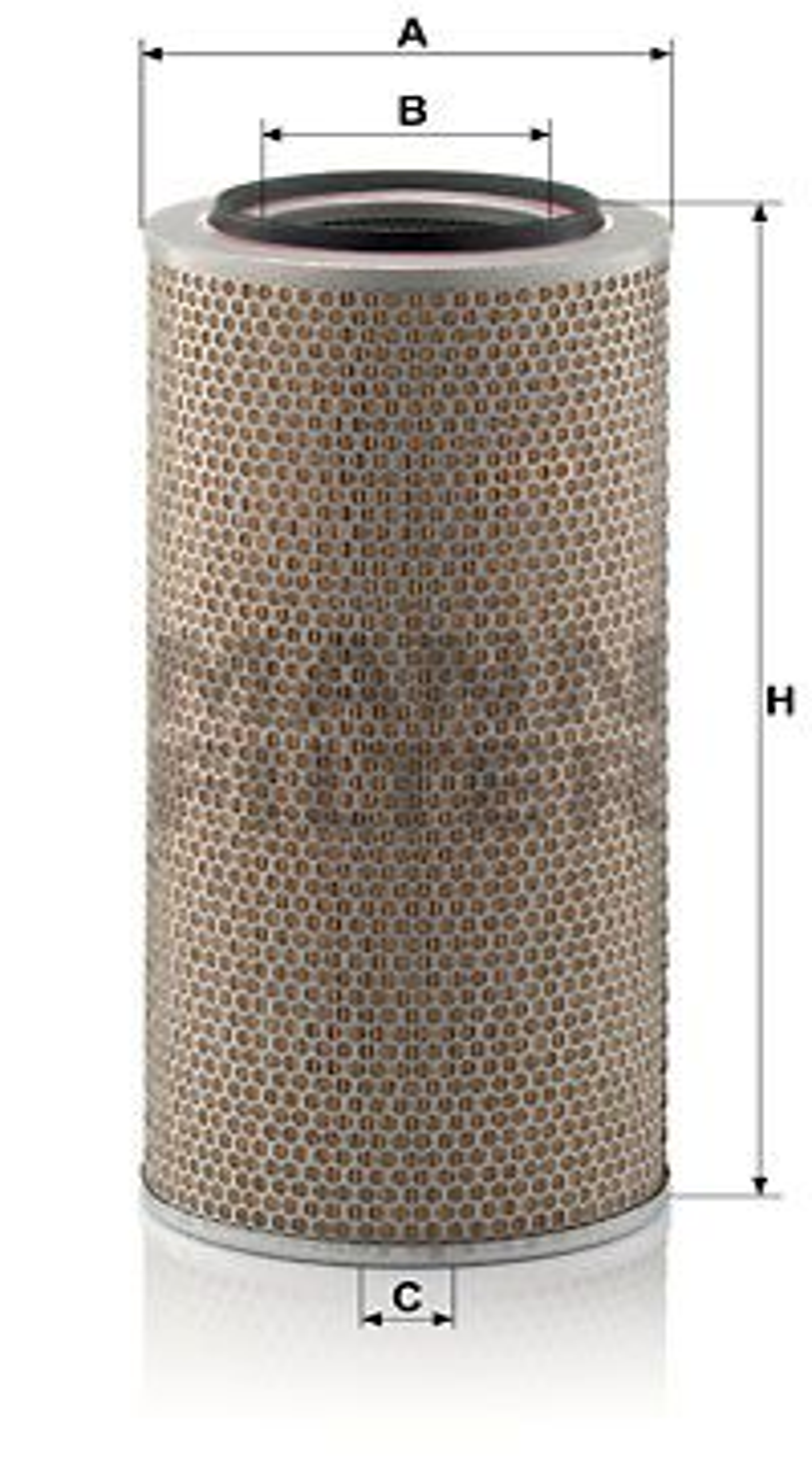 MANN-FILTER: Original Luftfilter C 24 650/1 (Höhe: 498mm)