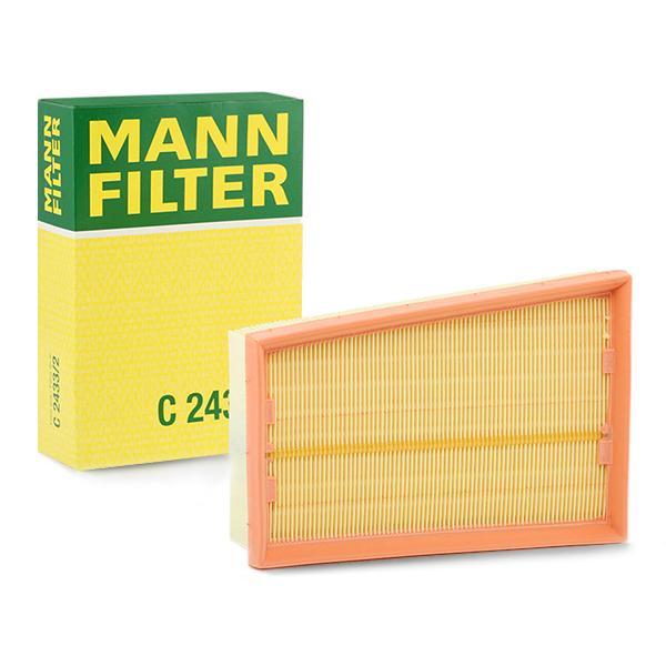 Zracni filter C 2433/2 z izjemnim razmerjem med MANN-FILTER ceno in zmogljivostjo