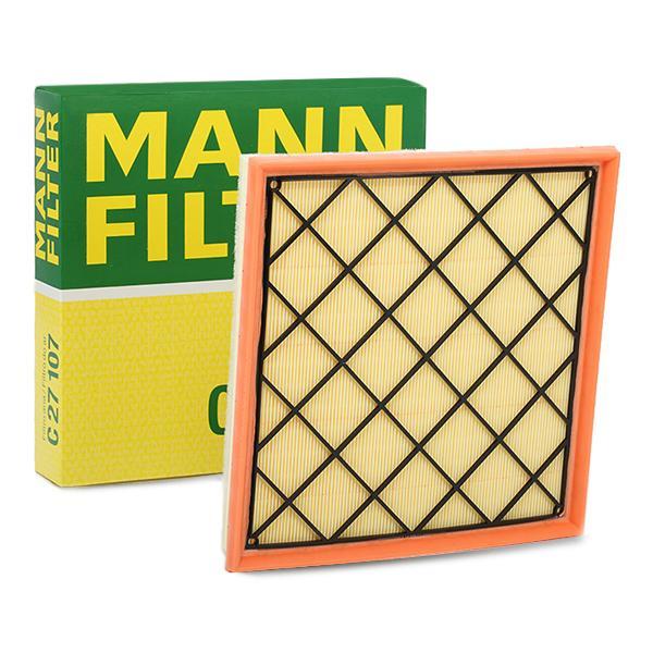 MANN-FILTER: Original Luftfilter C 27 107 (Länge: 267mm, Länge: 267mm, Breite: 262mm, Höhe: 42mm)