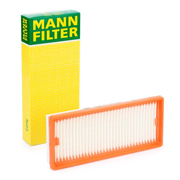 MANN-FILTER: Original Motorluftfilter C 2716 (Länge: 270mm, Länge: 270mm, Breite: 112mm, Höhe: 36mm)