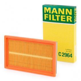C 2964 MANN-FILTER Länge: 281mm, Breite: 168mm, Höhe: 35mm Luftfilter C 2964 günstig kaufen