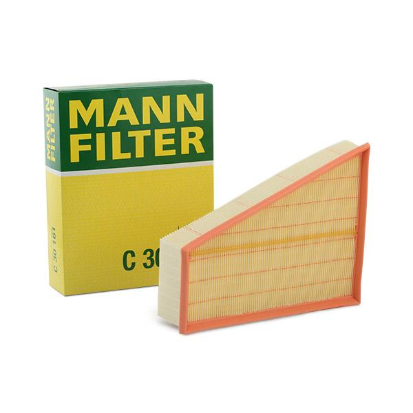 MANN-FILTER: Original Luftfiltereinsatz C 30 161 (Länge: 300mm, Länge: 300mm, Breite: 240mm, Höhe: 70mm)