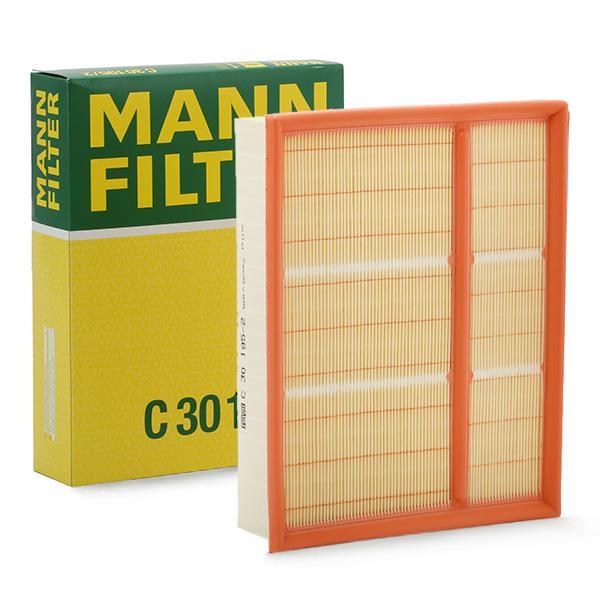 MANN-FILTER: Original Luftfilter C 30 195/2 (Länge: 228mm, Länge: 228mm, Breite: 294mm, Höhe: 58mm)