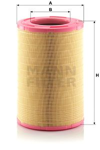 MANN-FILTER Filtr powietrza do RENAULT TRUCKS - numer produktu: C 31 1410