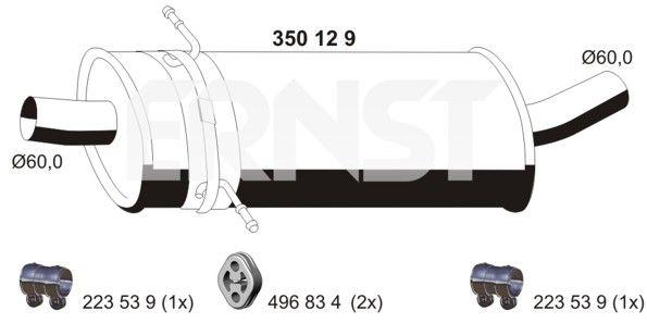 MERCEDES-BENZ PONTON MSD Attrappe - Original ERNST 350129