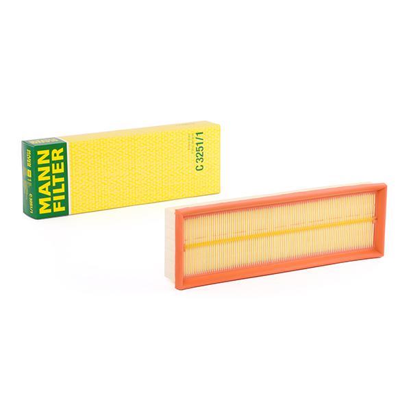Achetez Filtre à air MANN-FILTER C 3251/1 (Longueur: 310mm, Longueur: 310mm, Largeur: 103mm, Hauteur: 42mm) à un rapport qualité-prix exceptionnel