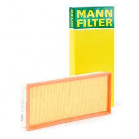 C 3498 MANN-FILTER Länge: 340mm, Breite: 143mm, Höhe: 50mm Luftfilter C 3498 günstig kaufen
