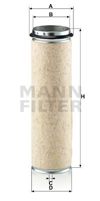 MANN-FILTER Filtr powietrza wtórnego do MERCEDES-BENZ - numer produktu: CF 1200