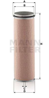 MANN-FILTER Secondary Air Filter for IVECO - item number: CF 1600