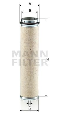 CF 800 MANN-FILTER Sekundärluftfilter CF 800 günstig kaufen