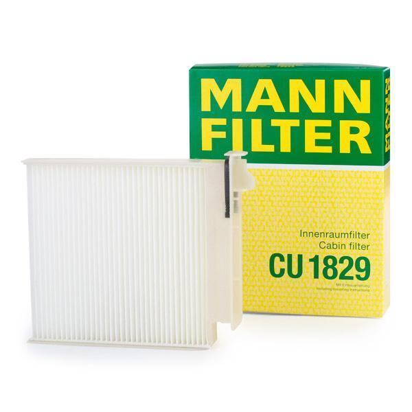 Origine Filtre à pollen MANN-FILTER CU 1829 (Largeur: 180mm, Hauteur: 28mm, Longueur: 185mm)