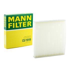 CU 1919 MANN-FILTER Partikelfilter Breite: 213mm, Höhe: 30mm, Länge: 193mm Filter, Innenraumluft CU 1919 günstig kaufen
