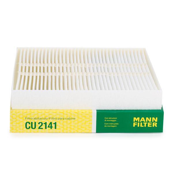 MANN-FILTER: Original Innenraumfilter CU 2141 (Breite: 200mm, Höhe: 30mm, Länge: 216mm)