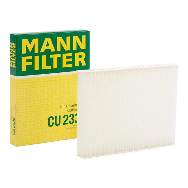 MANN-FILTER: Original Pollenfilter CU 2335 (Breite: 164mm, Höhe: 25mm, Länge: 215mm)