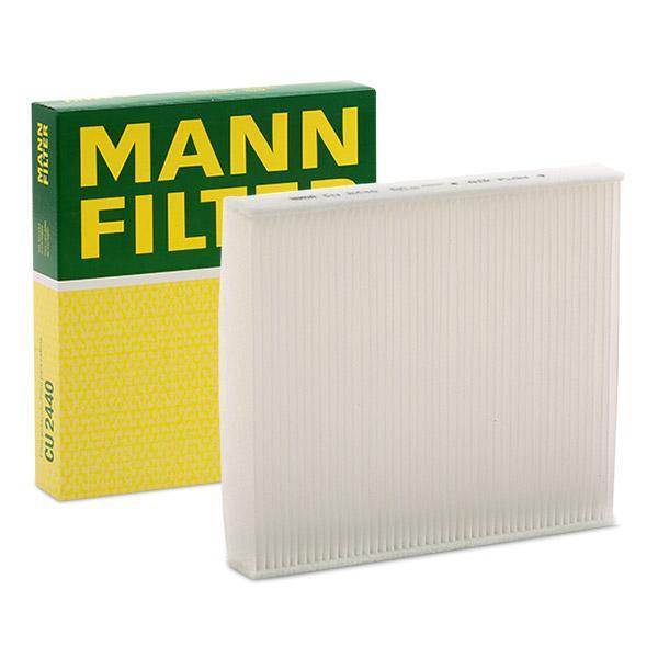 CU 2440 MANN-FILTER Partikelfilter Breite: 210mm, Höhe: 35mm, Länge: 235mm Filter, Innenraumluft CU 2440 günstig kaufen