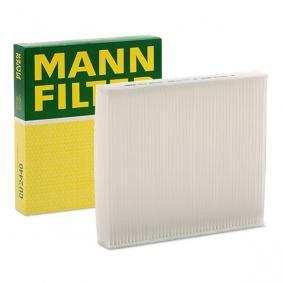 CU 2440 MANN-FILTER Partikelfilter B: 210mm, H: 35mm, L: 235mm Filter, kupéventilation CU 2440 köp lågt pris