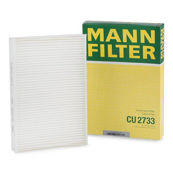 Image of MANN-FILTER Pollen Filter VOLVO,LAND ROVER CU 2733 30733894,30767022,31366124 Cabin Filter,Cabin Air Filter,Filter, interior air 31449209