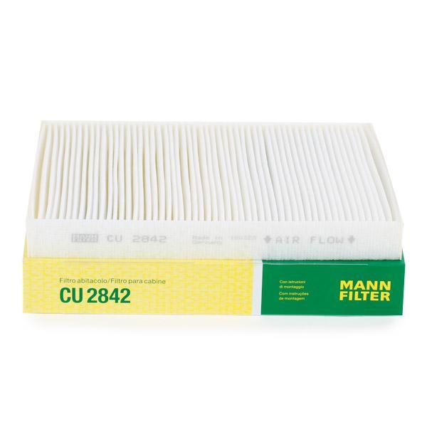 MANN-FILTER: Original Innenraumluftfilter CU 2842 (Breite: 219mm, Höhe: 30mm, Länge: 278mm)