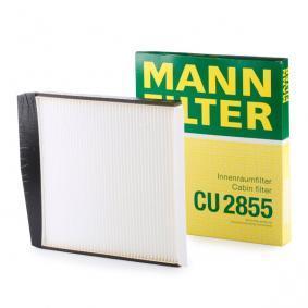 CU 2855 MANN-FILTER Partikelfilter Breite: 247mm, Höhe: 25mm, Länge: 277mm Filter, Innenraumluft CU 2855 günstig kaufen
