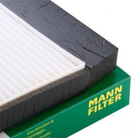 CU 2855 Pollenfilter MANN-FILTER - Markenprodukte billig