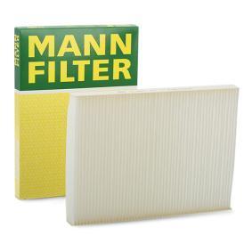Køb CU 2882 MANN-FILTER Partikelfilter Breite: 206mm, Höhe: 25mm, Länge: 280mm Kabineluftfilter CU 2882 billige