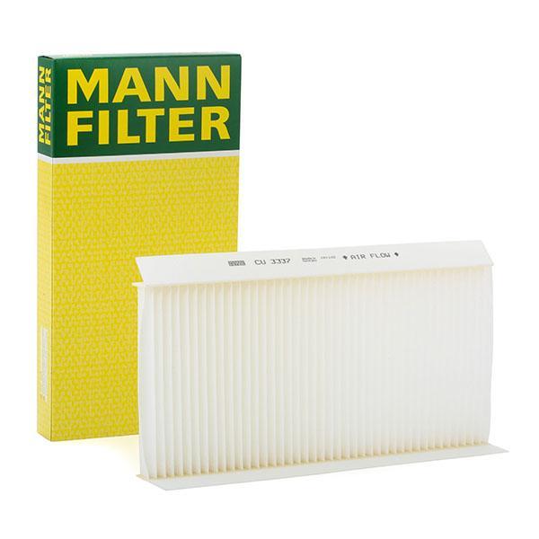 CU 3337 MANN-FILTER Partikelfilter Breite: 164mm, Höhe: 30mm, Länge: 331mm Filter, Innenraumluft CU 3337 günstig kaufen
