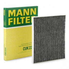 CUK 2243 MANN-FILTER Aktivkohlefilter Breite: 220mm, Höhe: 21mm, Länge: 268mm Filter, Innenraumluft CUK 2243