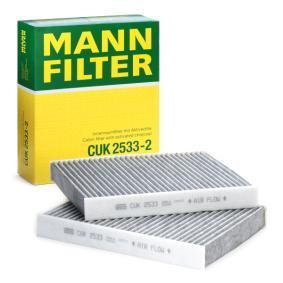 Filtru, aer habitaclu CUK 2533-2 pentru BMW 5 (F10, F18) — primiți-vă reducerea acum!
