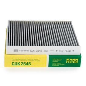 CUK 2545 MANN-FILTER Aktivkohlefilter Breite: 216mm, Höhe: 32mm, Länge: 246mm Filter, Innenraumluft CUK 2545 günstig kaufen