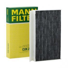 CUK 26 005 MANN-FILTER Aktivkohlefilter Breite: 150mm, Höhe: 35mm, Länge: 260mm Filter, Innenraumluft CUK 26 005 günstig kaufen
