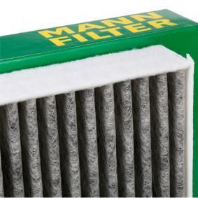 CUK 2641 MANN-FILTER Aktivkohlefilter Breite: 253mm, Höhe: 35mm, Länge: 256mm Filter, Innenraumluft CUK 2641 günstig kaufen