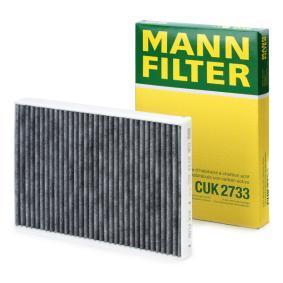 CUK 2733 MANN-FILTER aktivtkolfilter B: 195mm, H: 33mm, L: 280mm Filter, kupéventilation CUK 2733 köp lågt pris