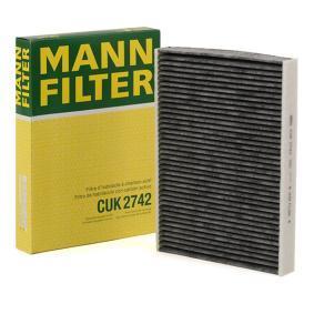 CUK 2742 MANN-FILTER Aktivkohlefilter Breite: 196mm, Höhe: 32mm, Länge: 270mm Filter, Innenraumluft CUK 2742 günstig kaufen