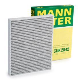CUK 2842 MANN-FILTER Aktivkohlefilter Breite: 219mm, Höhe: 30mm, Länge: 278mm Filter, Innenraumluft CUK 2842 günstig kaufen