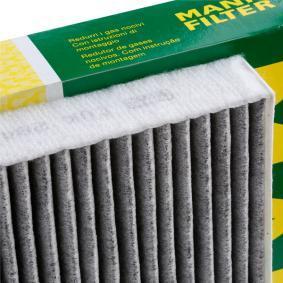 CUK 2842 Filter, kupéventilation MANN-FILTER - Billiga märkesvaror